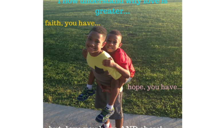 Love is greater…