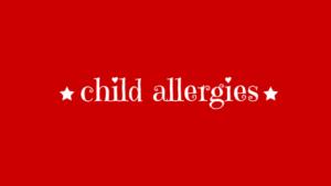 child allergies image