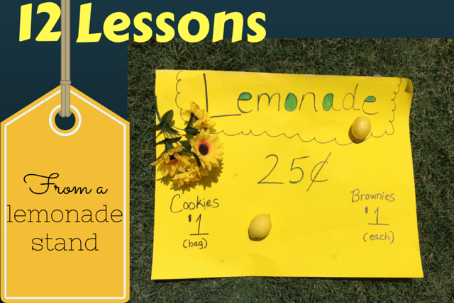 lemonade stand poster with bake sale prices